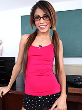 Small Tits, Young tight brunette girl gets fucked by her big cocked teacher.