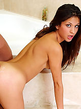 Ariana Fox,My Sister's Hot Associate Glide, Ariana Fox, Sister\'s Friend, Bathroom, Bathtub, Butt licking, Butt smacking, Huge Dick, Blow Job, Brunette, High Heels, Natural Boobs, Petite, Piercings, Shaved, Small Boobs,