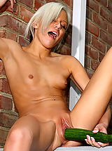 Tiny Breasts, kacey jordan 06 banana cucumber inside vagina