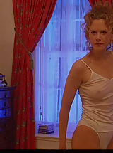 used panties, Nicole Kidman bares tits, breasts and bush while posing in the mirror