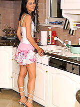 tanita 01 kitchen wet pussy lips