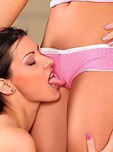 Sapphic Erotica Pics: Sublime vixens kiss and dildo tight pink twats to orgasms