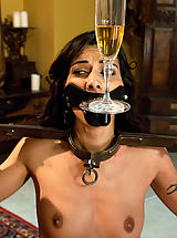 Hot french maid in bondage, domination and anal sex!